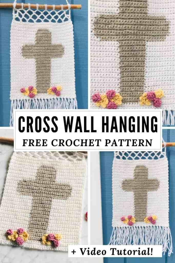 Crochet Easter Cross Wall Hanging - Free Pattern