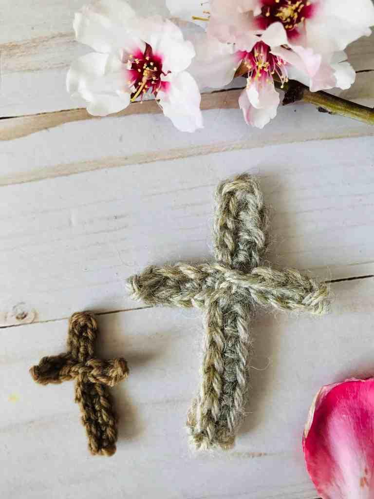 Crochet cross applique pattern