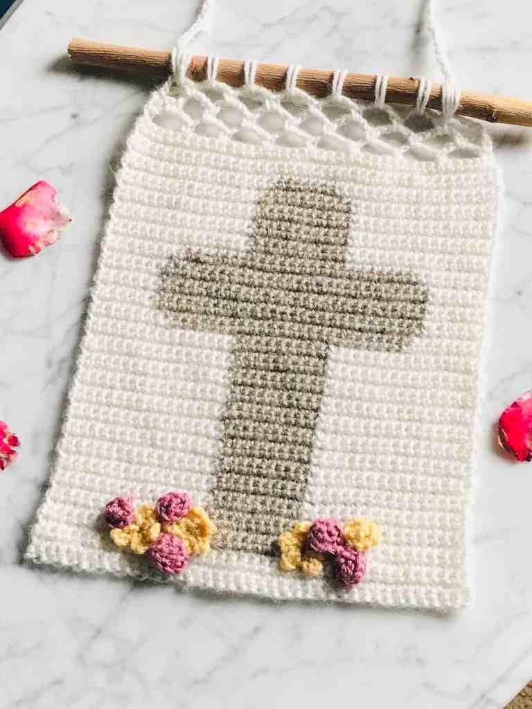 Crochet Cross Wall Hanging