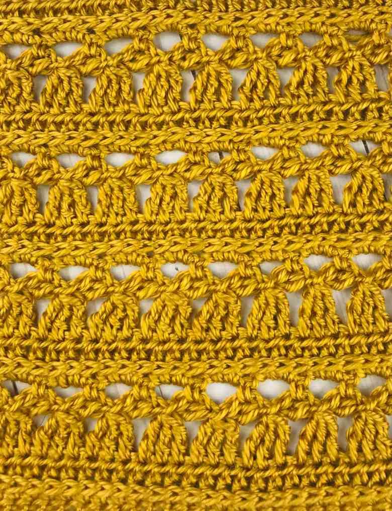 Angel Stitch crochet square pattern