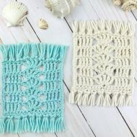 UNIQUE Seaside Mug Rug Crochet Pattern (Free!)