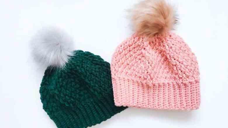 Alpine Stitch Hat Crochet Pattern