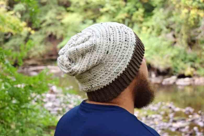 Men's slouchy hat crochet pattern