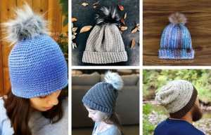 Crochet Hat Patterns with Worsted Weight Yarn