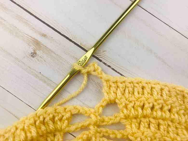 picot stitch on crochet shawl