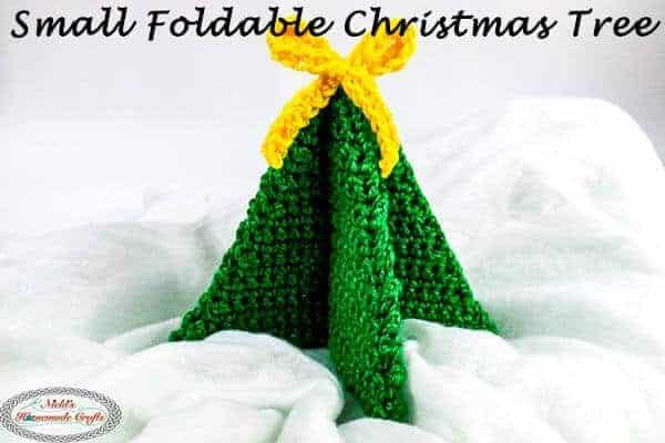 Foldable Crochet christmas tree
