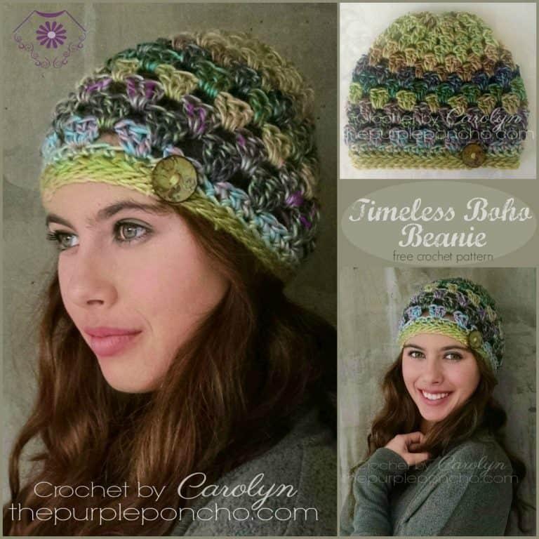 Boho Crochet Hat Pattern