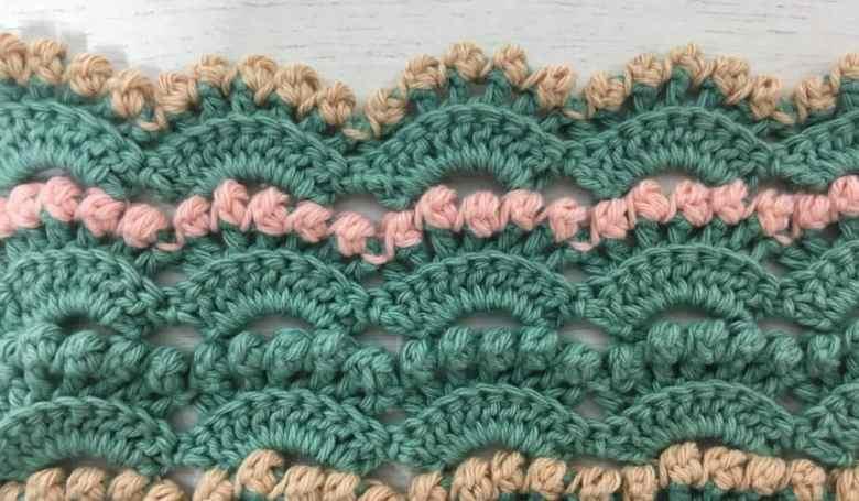 Berry Stitch Textured Crochet Border