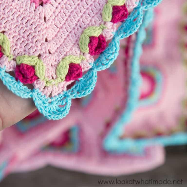 Rose Crochet Border Pattern