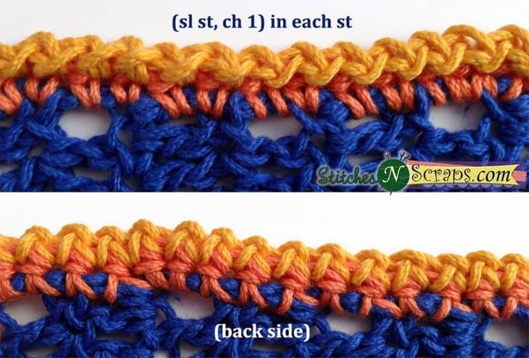Crochet Slip Stitch border