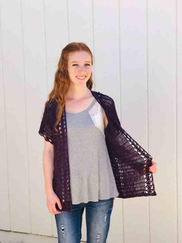 Easy Crochet Summer Cardigan Pattern