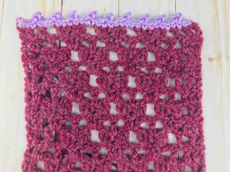 Small Picot Stitch border on lace