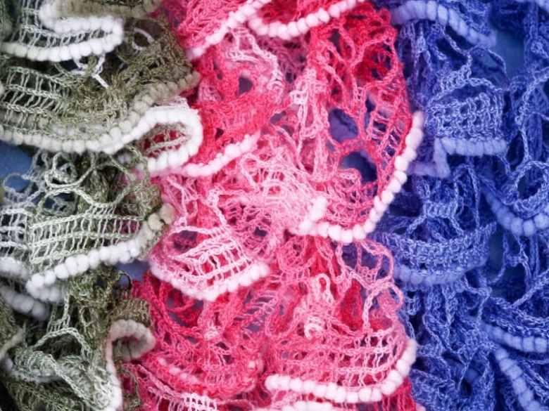 Crochet Ruffle Scarf Yarn
