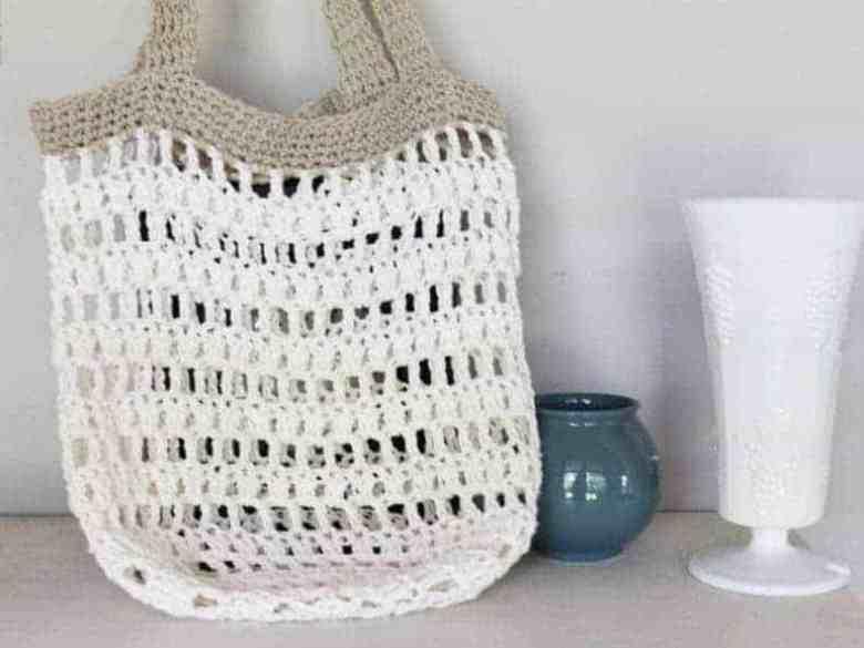 Beginner crochet market tote pattern