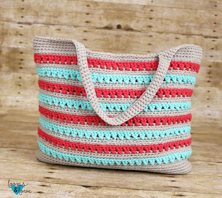 crochet summer beach tote bag