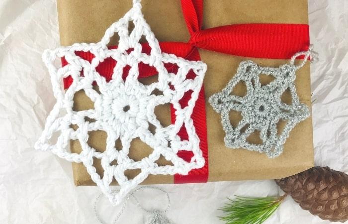 Crochet Snowflake Ornament Pattern - Free & in 3 Sizes!
