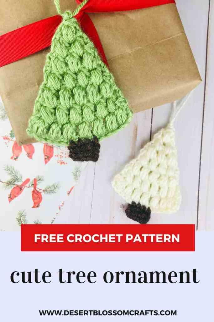 Crochet Tree Ornament - Free Pattern & Tutorial