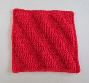 Textured Crochet Square Pattern