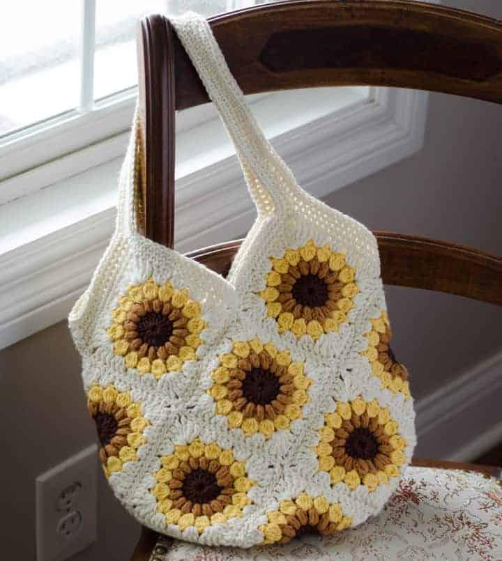 Sunflower crochet bag pattern