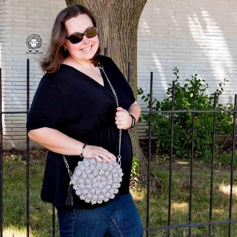 Round crochet bag pattern