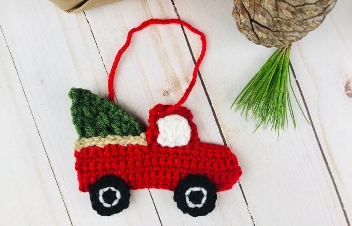 Vintage Red Truck Crochet Pattern - Free!