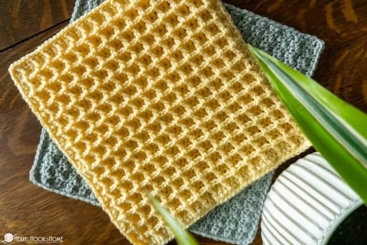 Waffle Stitch Crochet Texture