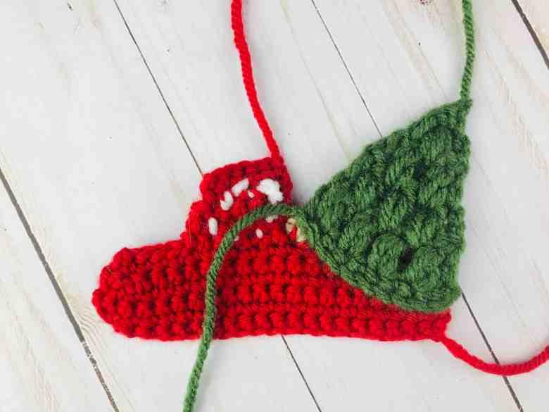 Crochet Red Truck - attaching Christmas Tree