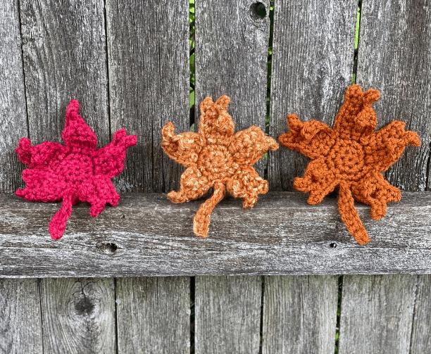 Fall maple leaf crochet pattern