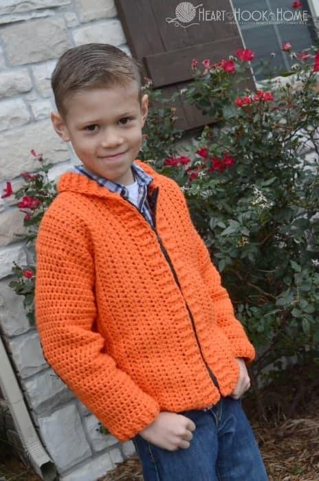 Boys crochet cardigan pattern free