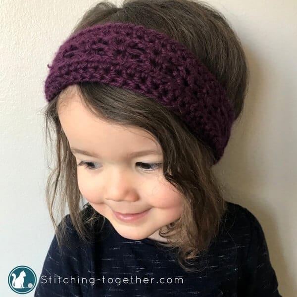crochet toddler headband pattern