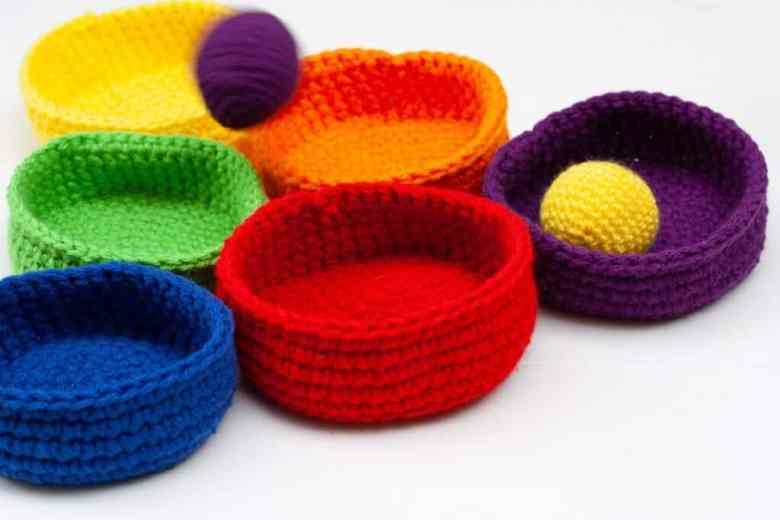 crochet ball toss educational toy for kids