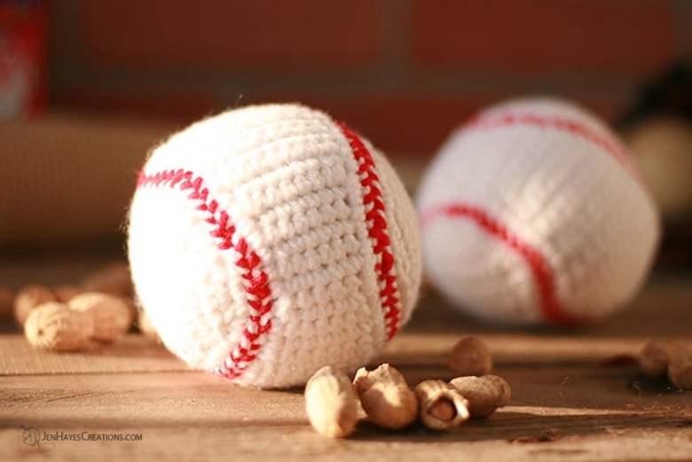 Crochet Baseball - gift for teenage guys
