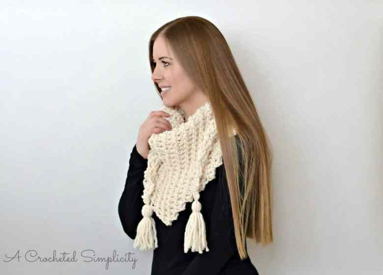 Wool Ease Thick & Quick triangle scarf pattern
