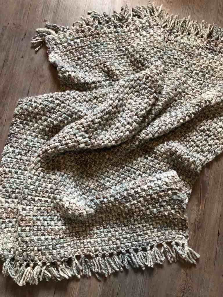 Crochet blanket with Wool Ease Thick & Quick