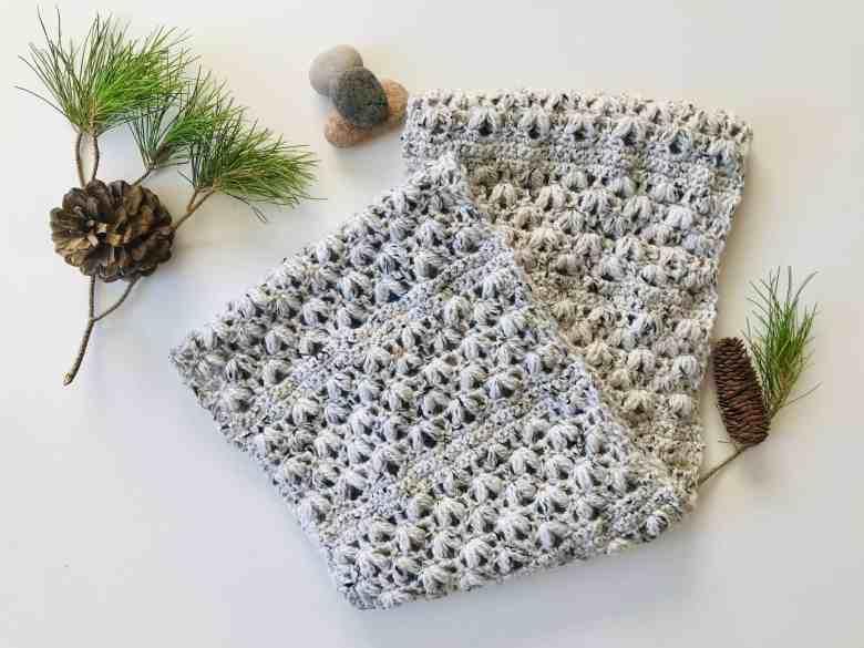 puff stitch crochet infinity scarf