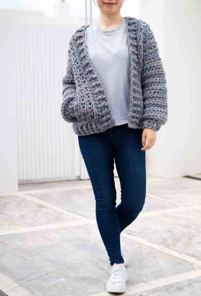 Wool Ease Thick & Quick Cardigan Crochet Pattern