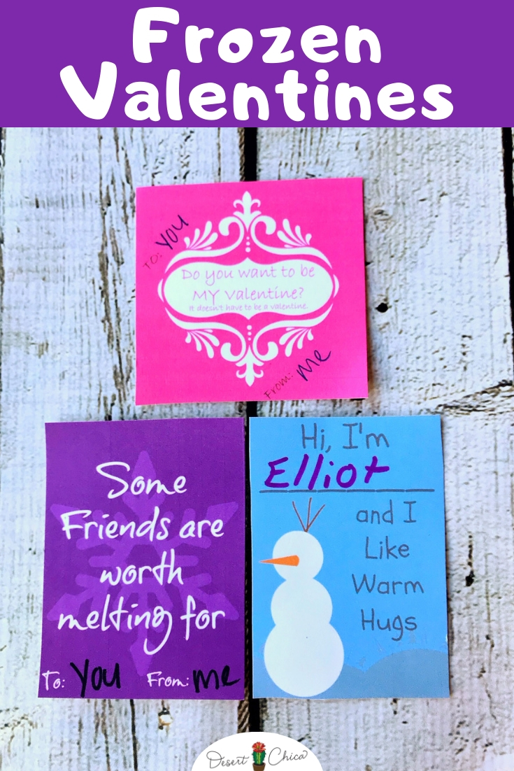 These Frozen valentines are sweet little printable cards perfect for your little Disney fan to take for their classroom exchange at school. It includes 'Do you want to build a snowman' and 'I like warm hugs' ideas. Valentine's Day | Free Valentines Day Printables | Valentines DIY