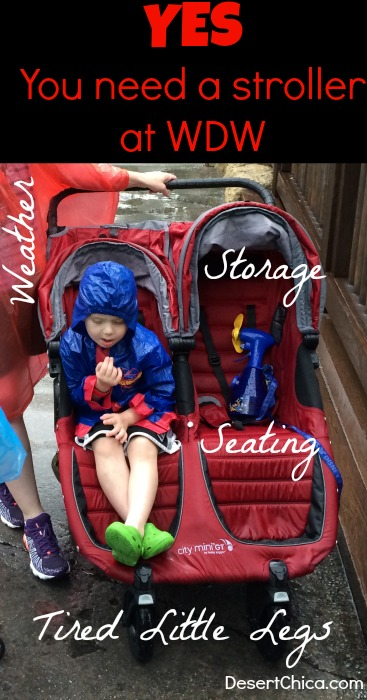 There are many reasons why you need a stroller at Walt Disney World. And if you have to even consider it, then the answer is Yes. You need a stroller at the Magic Kingdom.