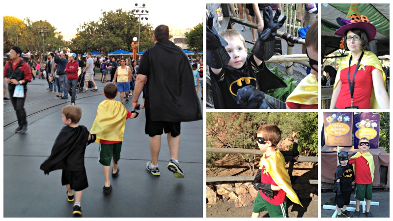 Batman Family Costumes at Mickey's Halloween Party
