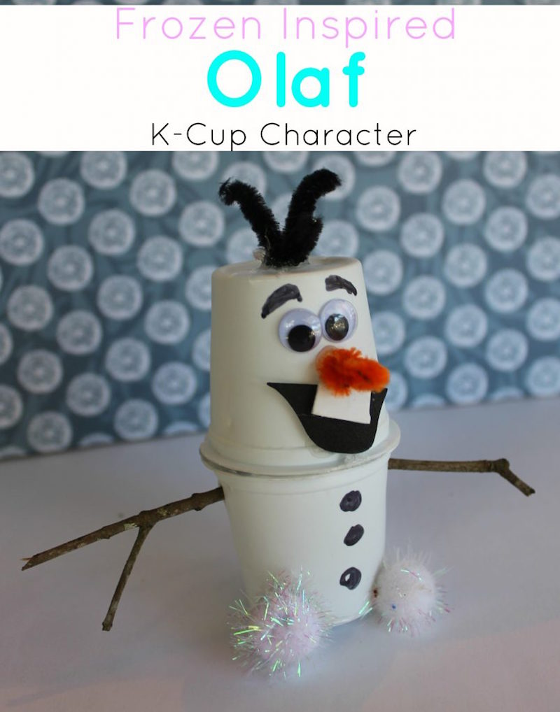 Olaf craft from k-cup from this mama loves