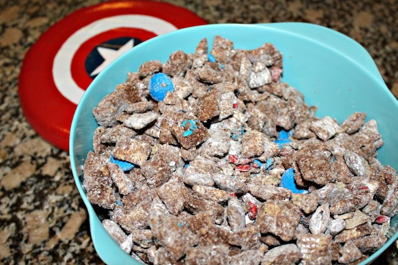 Captain America Muddy Buddies Dessert #shop