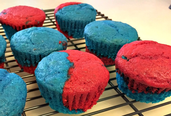 Red and Blue Patriotic Cupcakes