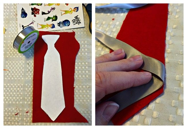 DIY Felt Tie Inside out costume