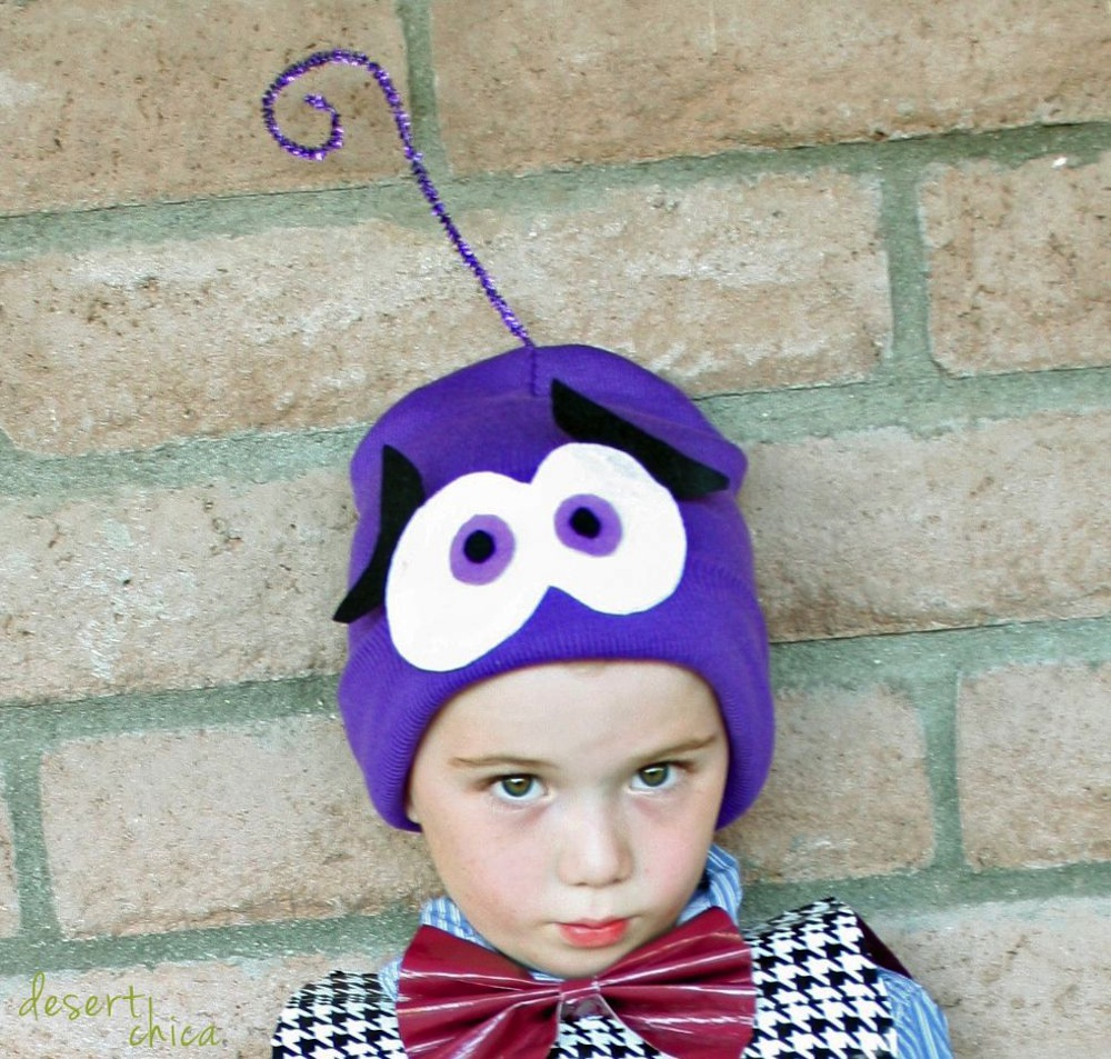 Homemade Inside Out Costume Fear Hat