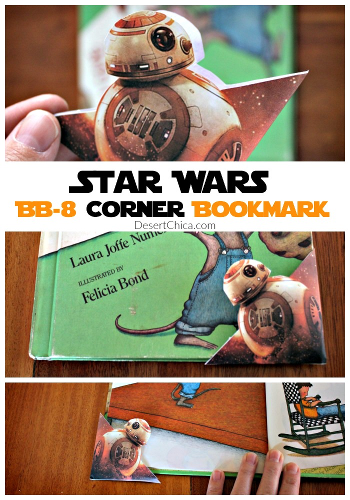 BB-8 Corner Bookmark