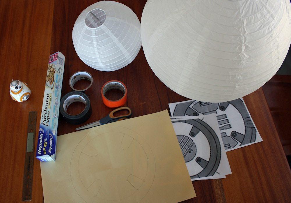 BB-8 Paper Lantern Materials