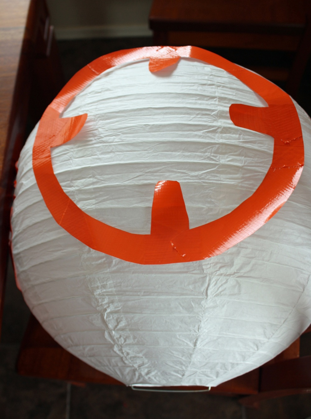 Place Duct tape on BB-8 Paper Lantern