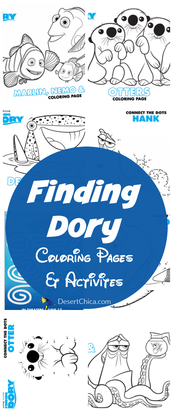 Finding Dory Coloring Pages and Activities