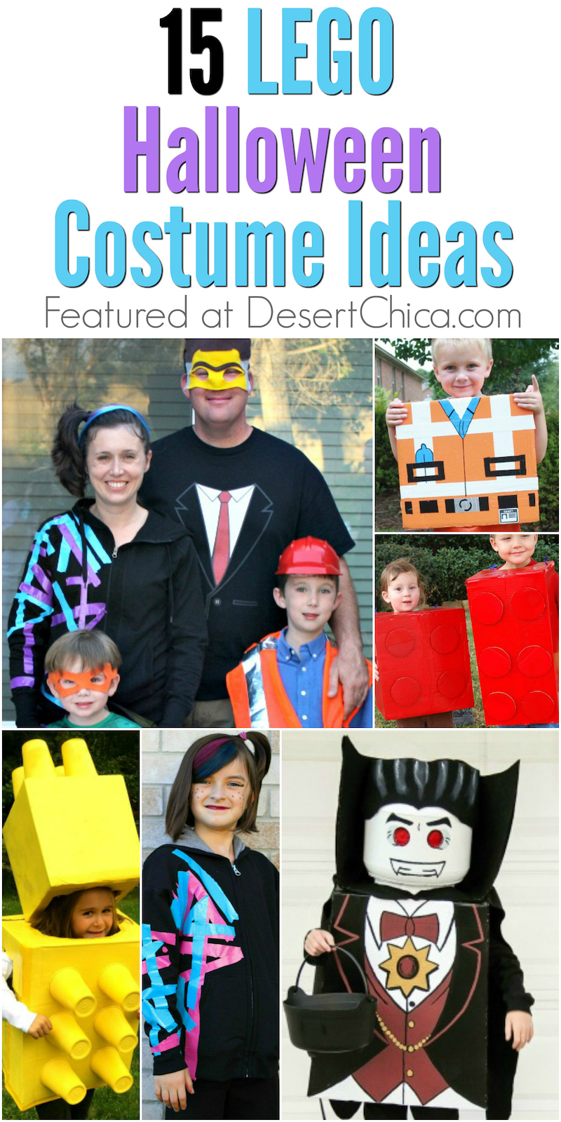 Are your kids LEGO crazy like mine? If so, check out these awesome LEGO costume ideas for Halloween. There are lots of LEGO characters to choose from!