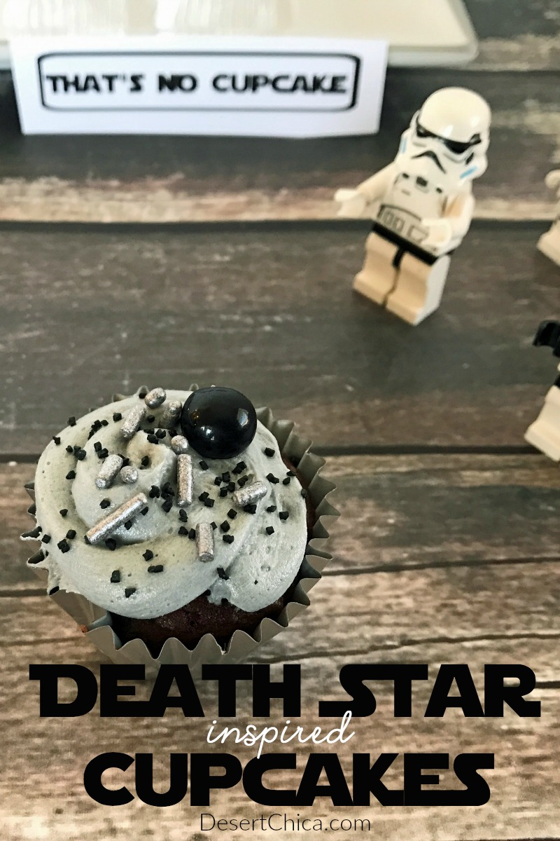 Cupcakes are always a fun addition to any party, including a Rogue One movie night! Check out the easy Death Star Cupcakes I made for ours!